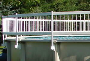 Vinyl Safety Fence for Above-Ground Swimming Pools