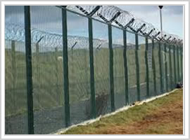 Serried Horizontal Wire Fence Berming Security Fencing Co